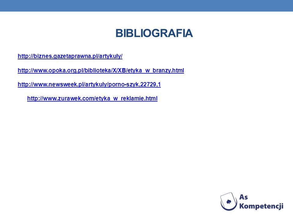 Bibliografia http://biznes.gazetaprawna.pl/artykuly/