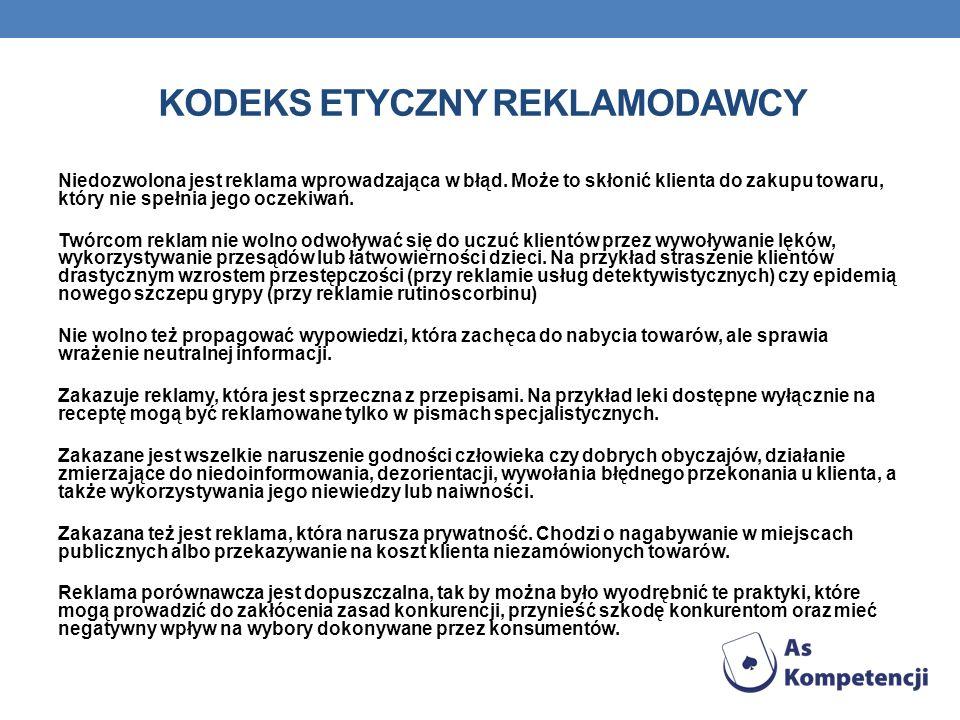 Kodeks etyczny reklamodawcy