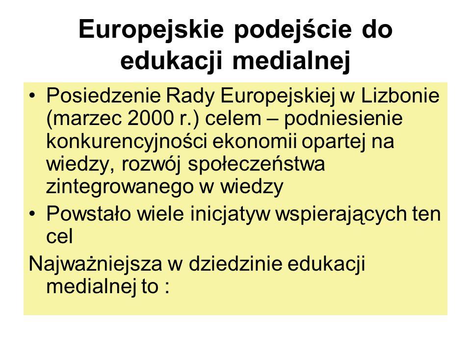 Europejskie podejście do edukacji medialnej
