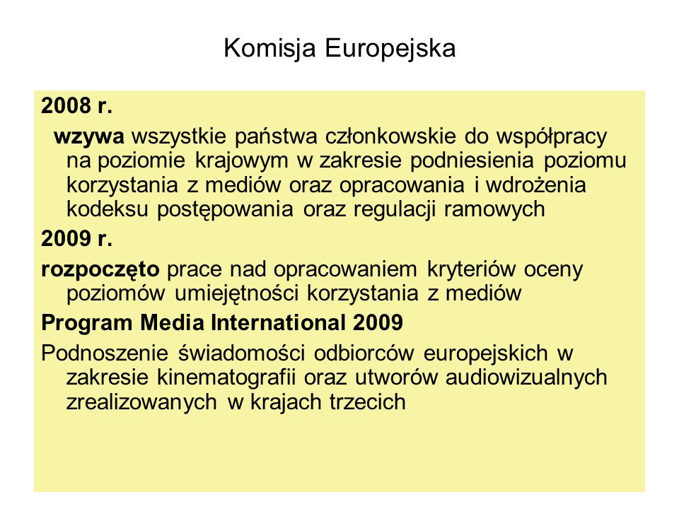 Komisja Europejska2008 r.
