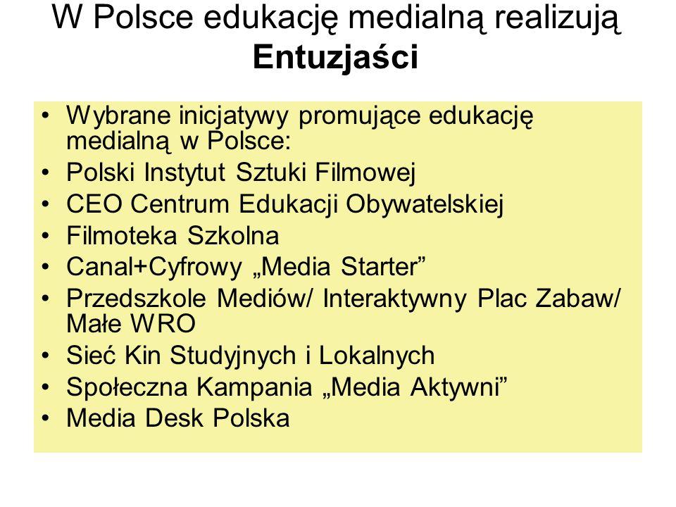 W Polsce edukację medialną realizują Entuzjaści