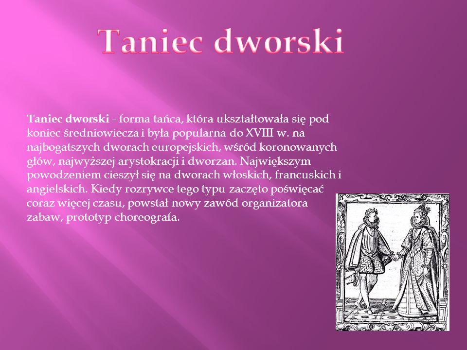 Taniec dworski