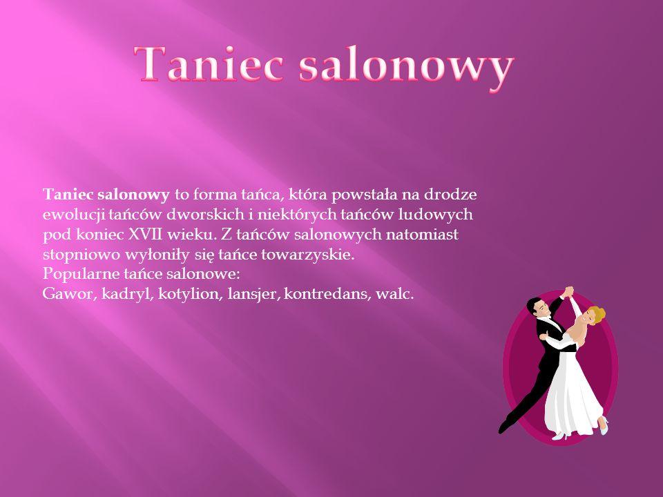 Taniec salonowy