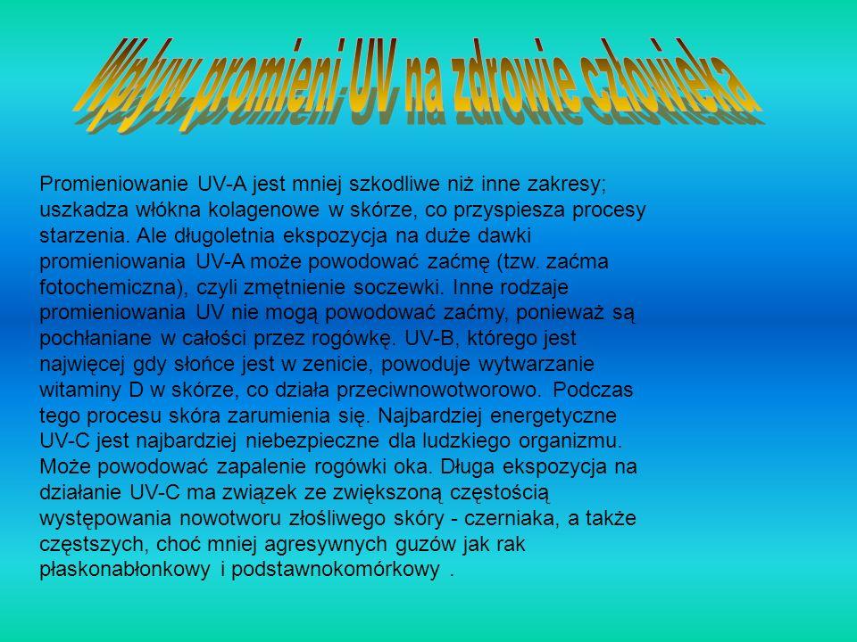 Wpływ promieni UV na zdrowie człowieka
