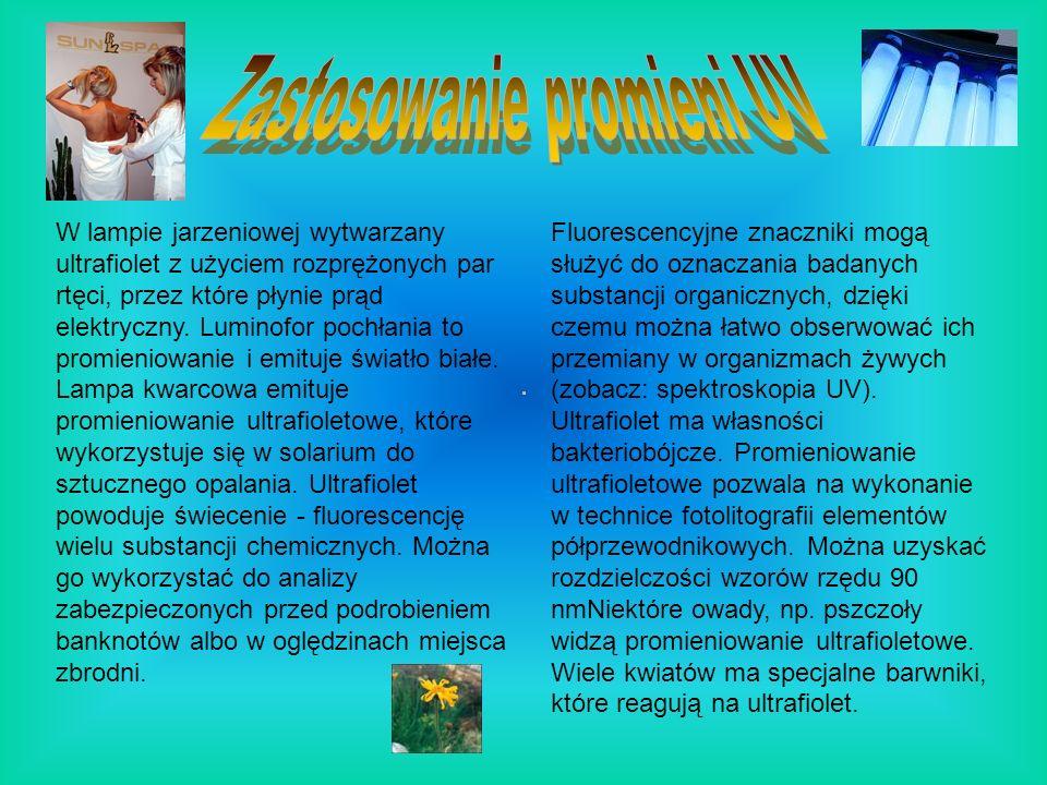 Zastosowanie promieni UV