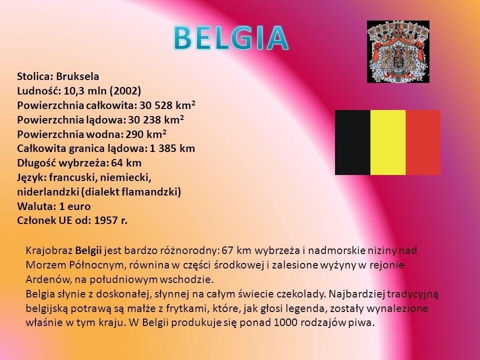 BELGIA Stolica: Bruksela Ludność: 10,3 mln (2002)