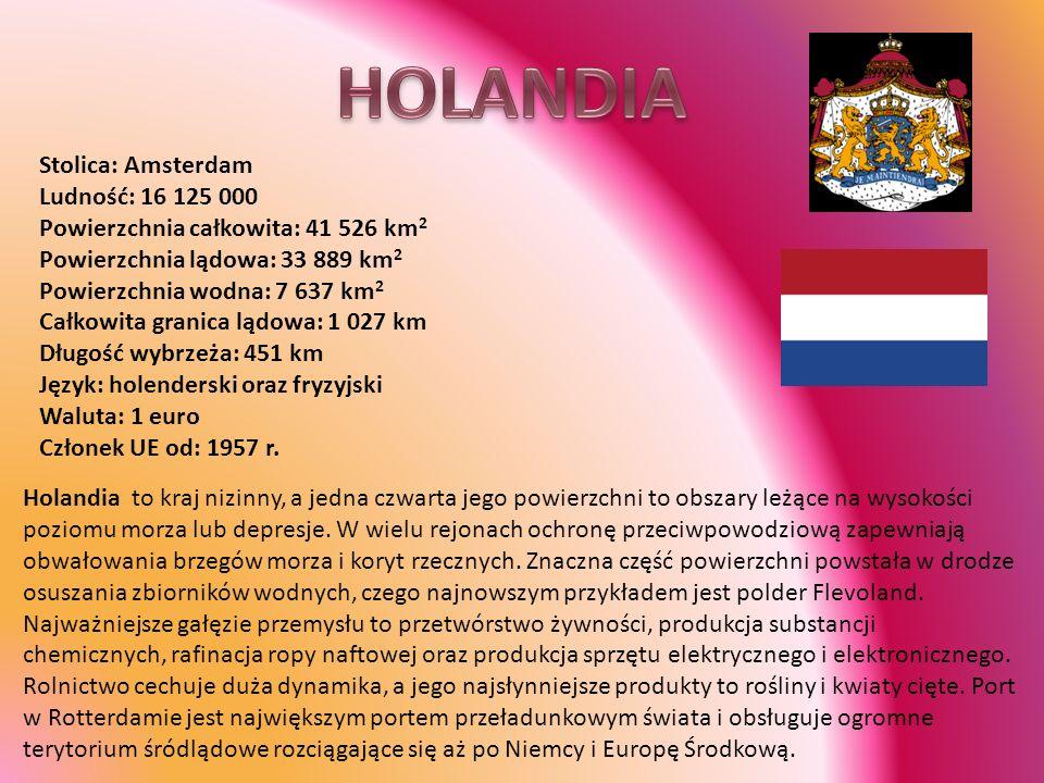 HOLANDIA Stolica: Amsterdam Ludność: 16 125 000