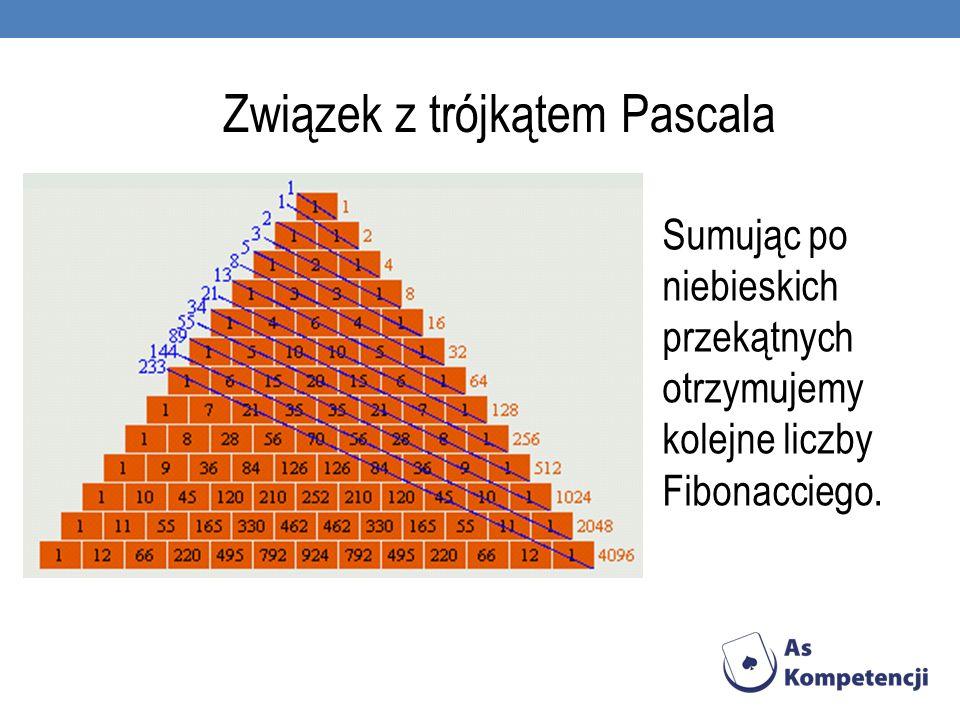 Związek z trójkątem Pascala