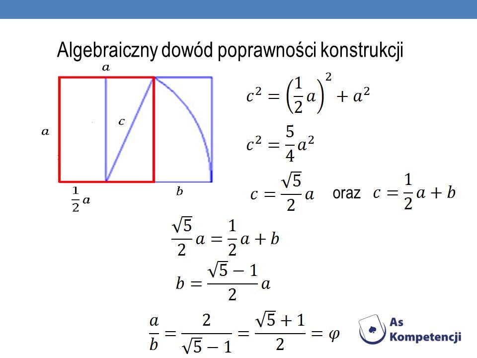 Algebraiczny dowód poprawności konstrukcji