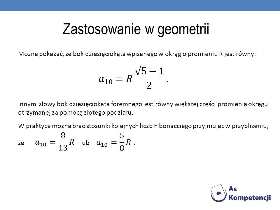 Zastosowanie w geometrii