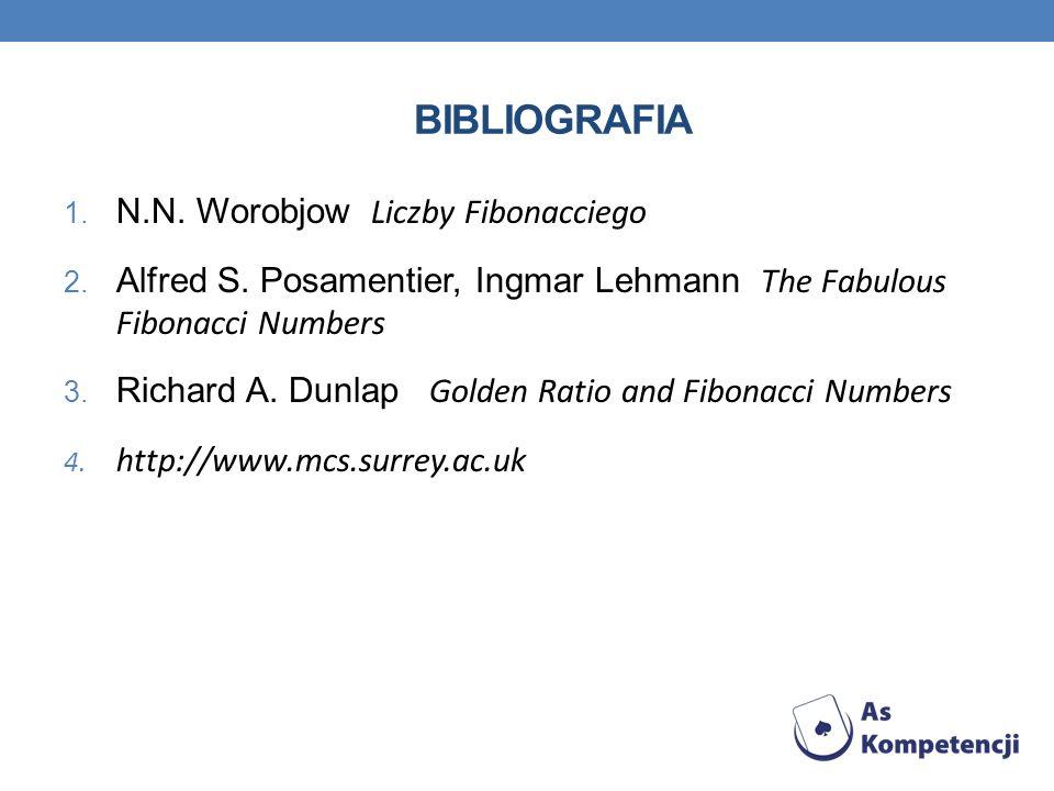 Bibliografia N.N. Worobjow Liczby Fibonacciego