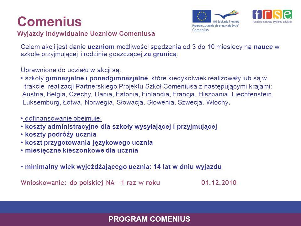Comenius Wyjazdy Indywidualne Uczniów Comeniusa