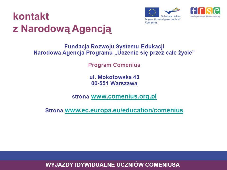kontakt z Narodową Agencją Fundacja Rozwoju Systemu Edukacji