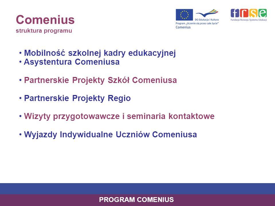 Comenius struktura programu
