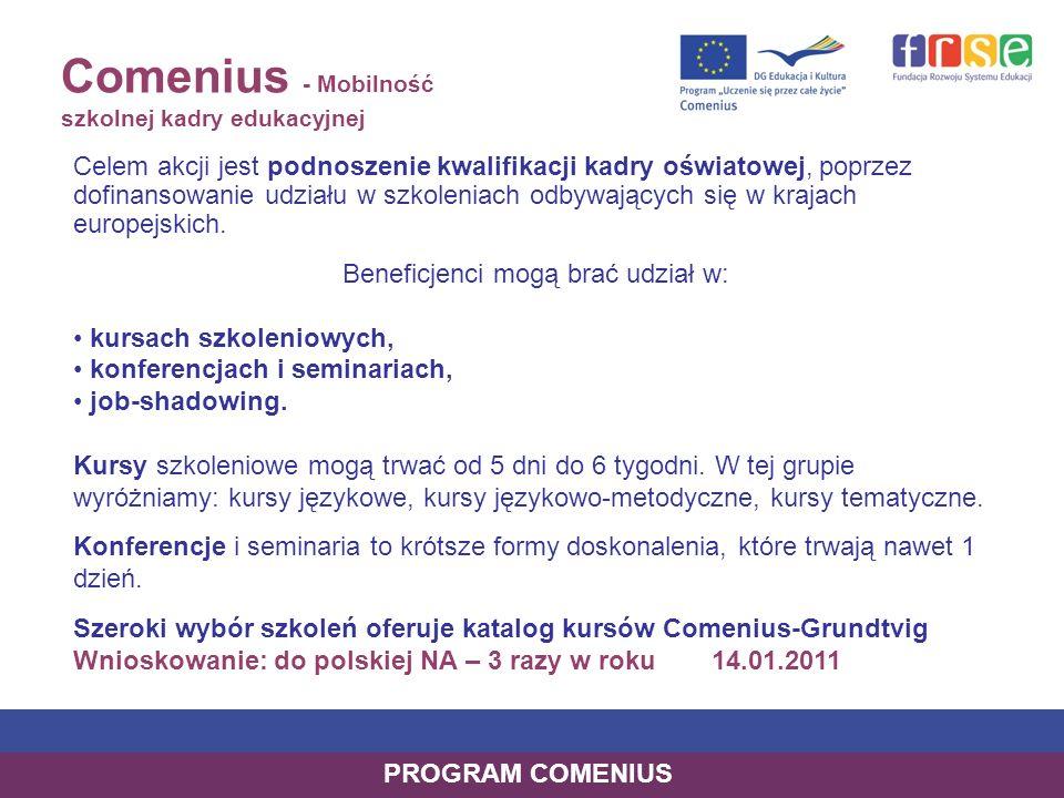 Beneficjenci mogą brać udział w: