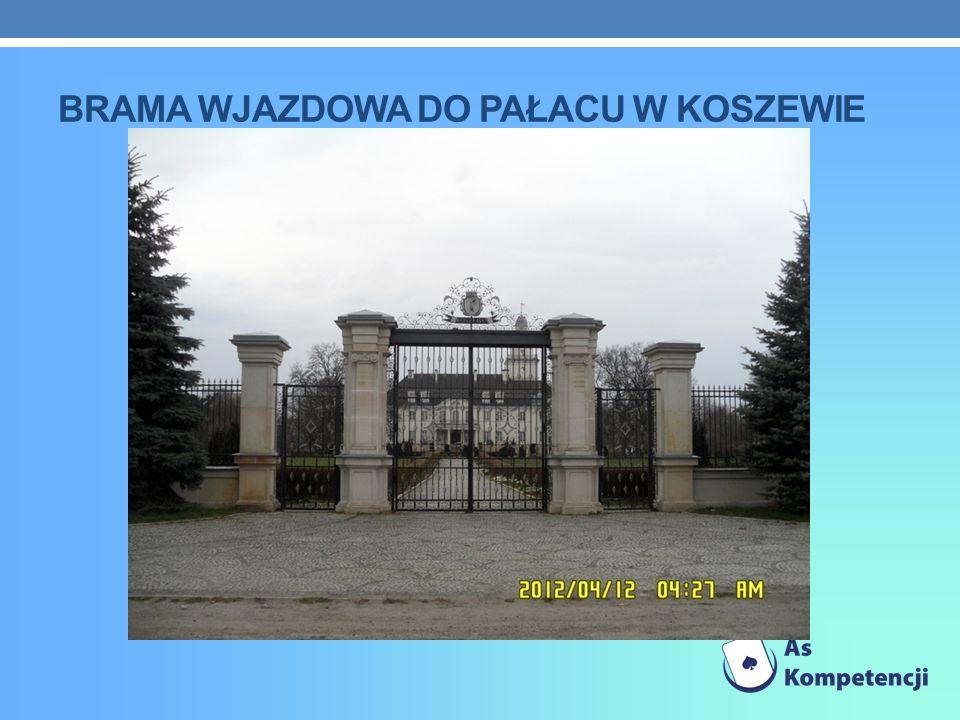 brama wjazdowa do paŁacu w koszewie