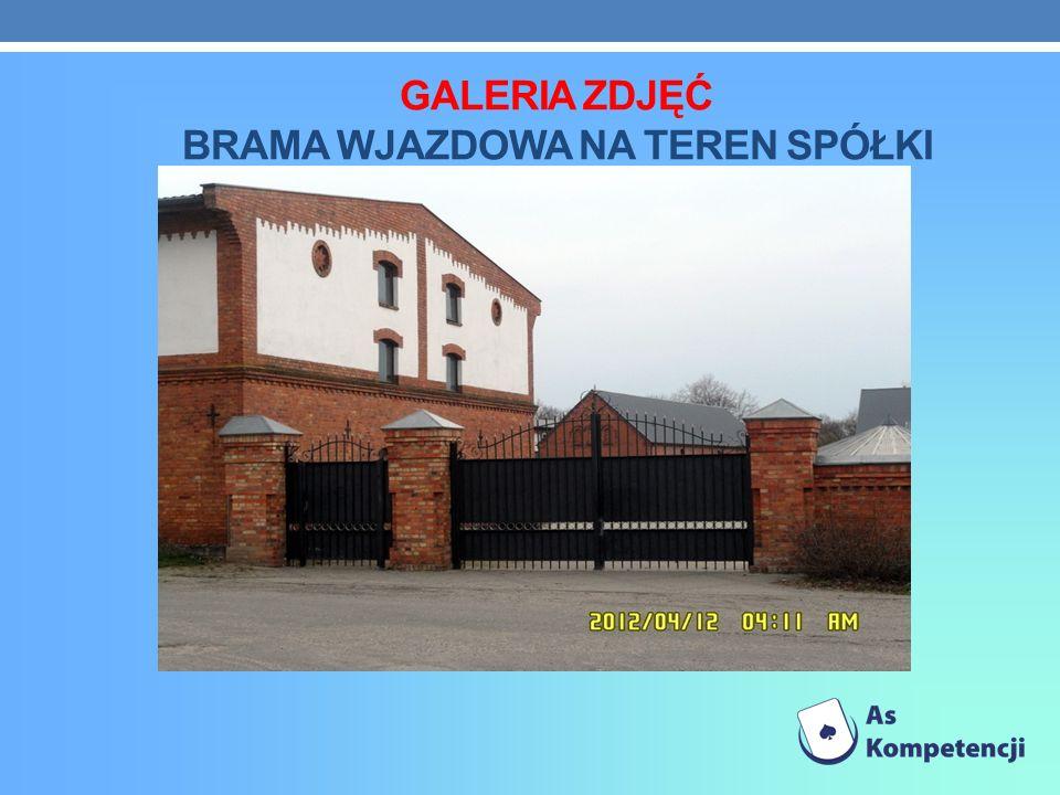 Galeria zdjęć brama wjazdowa na teren spółki