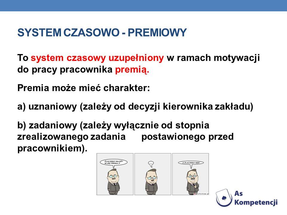 SYSTEM CZASOWO - PREMIOWY