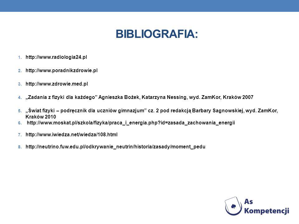 Bibliografia: http://www.radiologia24.pl http://www.poradnikzdrowie.pl