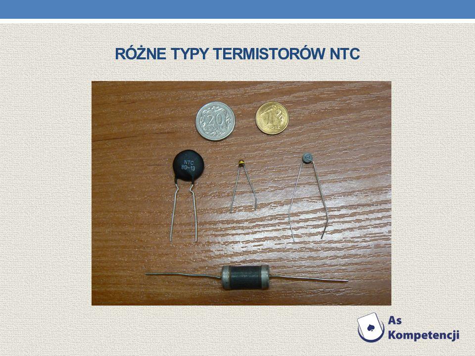 Różne typy termistorów NTC