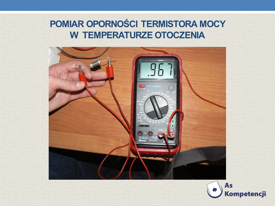 Pomiar oporności Termistora mocy w Temperaturze otoczenia