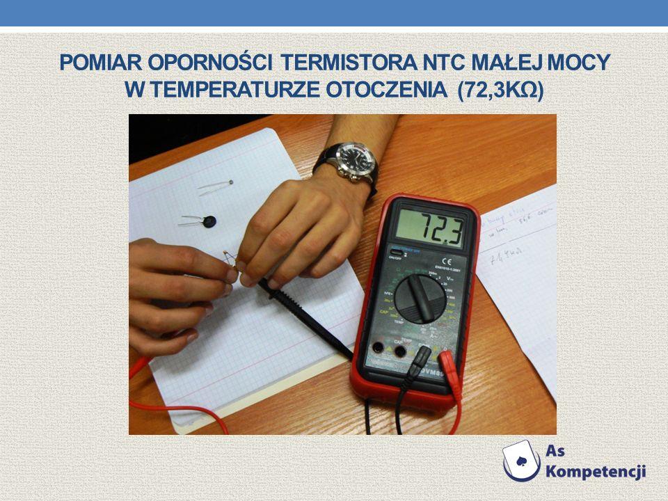 Pomiar oporności termistora NTC małej mocy w temperaturze otoczenia (72,3kΩ)