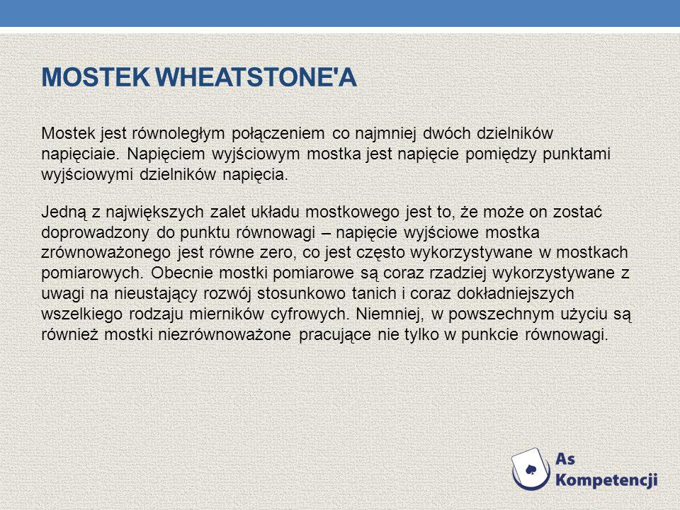 mostek Wheatstone a