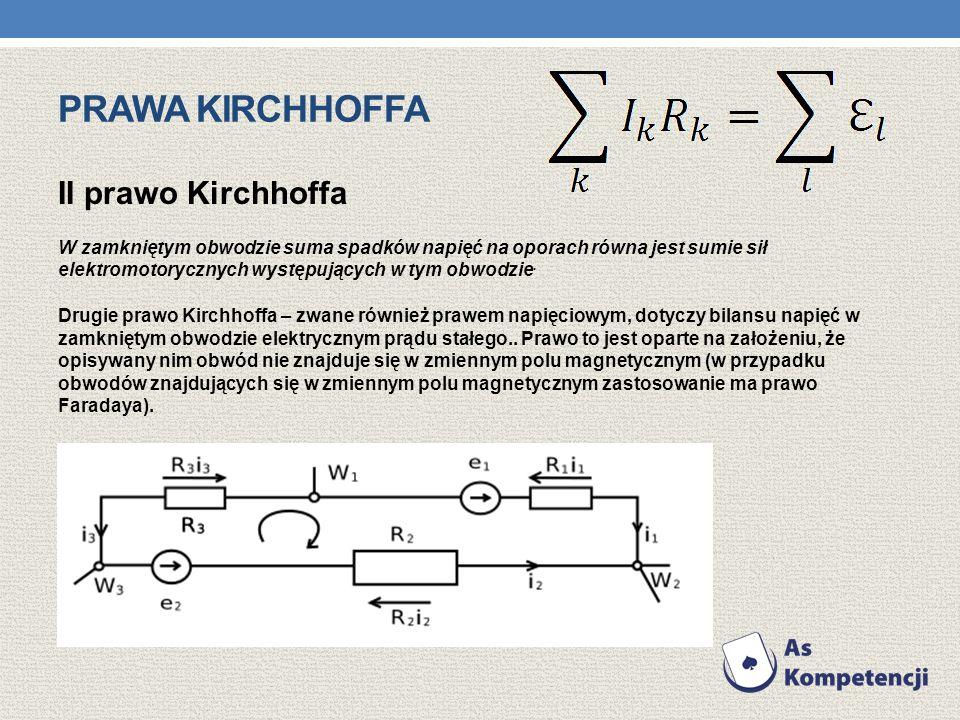 Prawa kirchhoffa II prawo Kirchhoffa