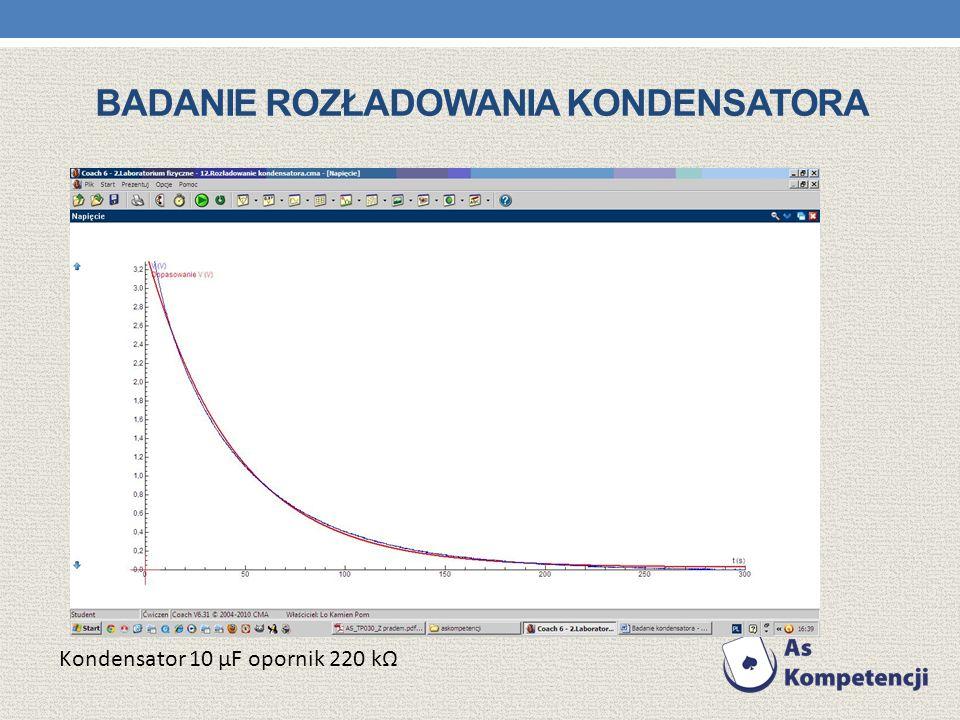Badanie rozładowania kondensatora