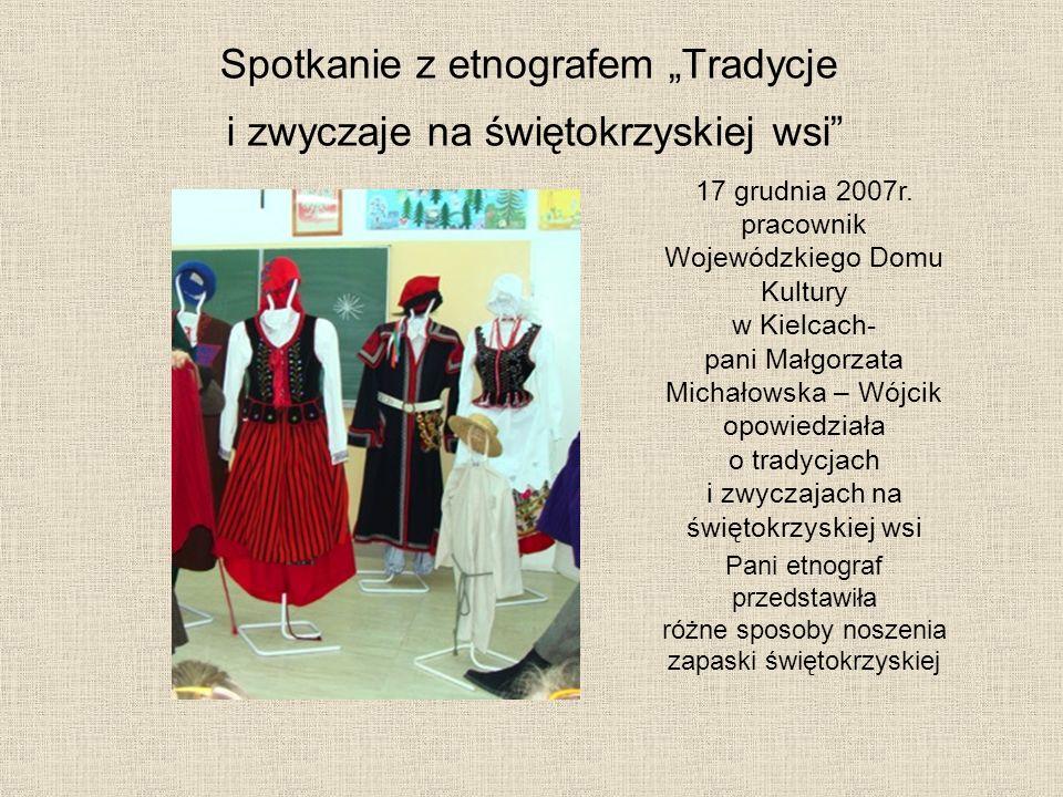 """Spotkanie z etnografem """"Tradycje i zwyczaje na świętokrzyskiej wsi"""