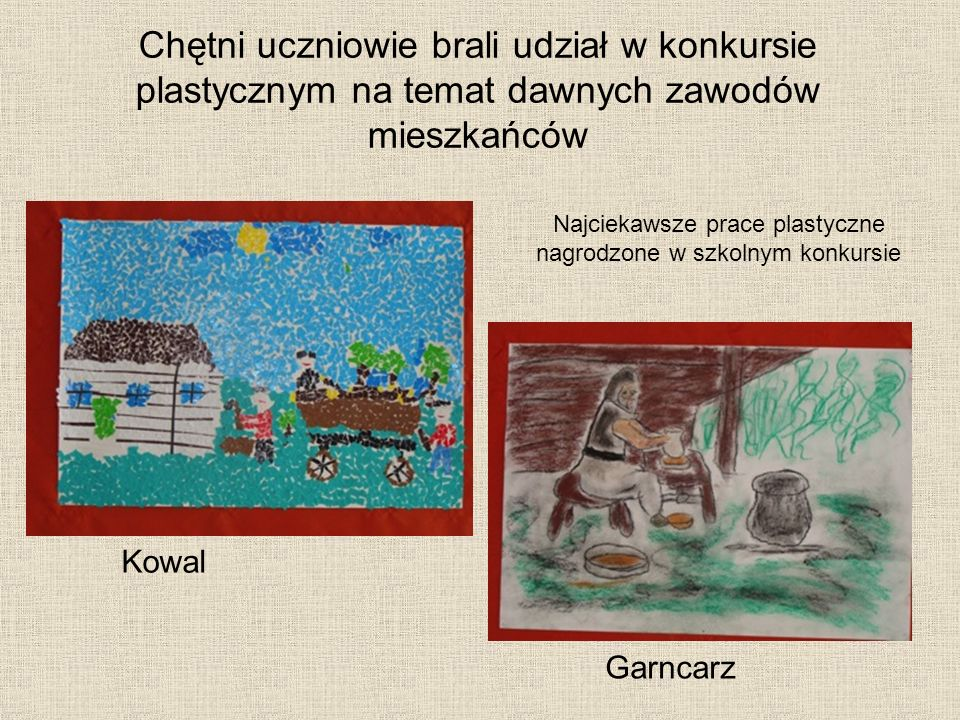 Najciekawsze prace plastyczne nagrodzone w szkolnym konkursie