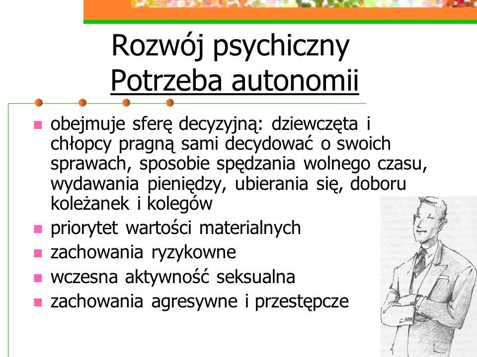 Rozwój psychiczny Potrzeba autonomii