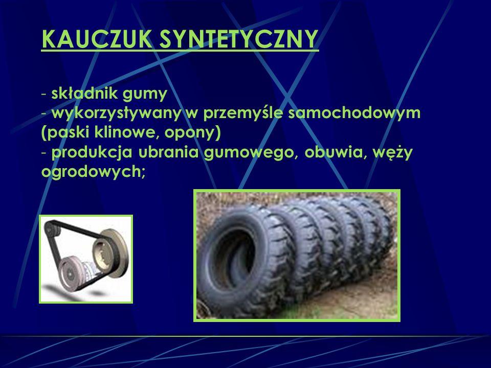 KAUCZUK SYNTETYCZNY składnik gumy