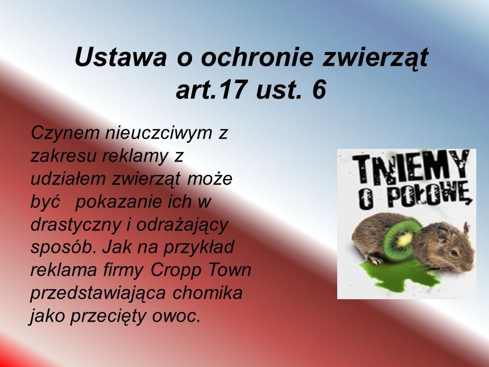 Ustawa o ochronie zwierząt art.17 ust. 6