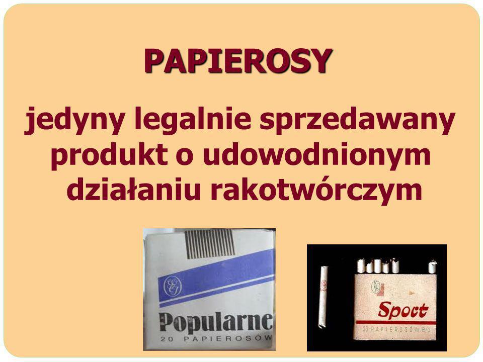 PAPIEROSY jedyny legalnie sprzedawany produkt o udowodnionym