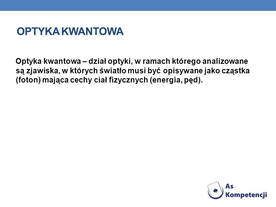 OPTYKA KWANTOWA
