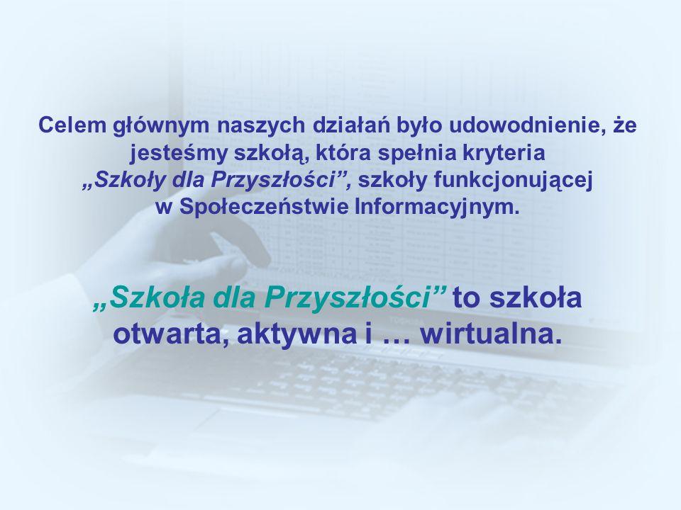 """""""Szkoła dla Przyszłości to szkoła otwarta, aktywna i … wirtualna."""