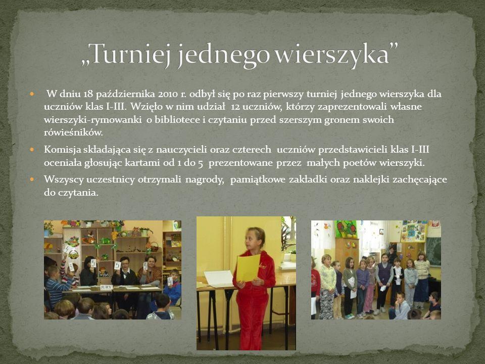 """""""Turniej jednego wierszyka"""