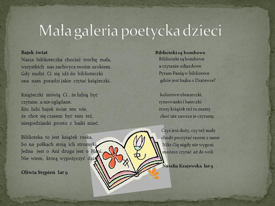 Mała galeria poetycka dzieci