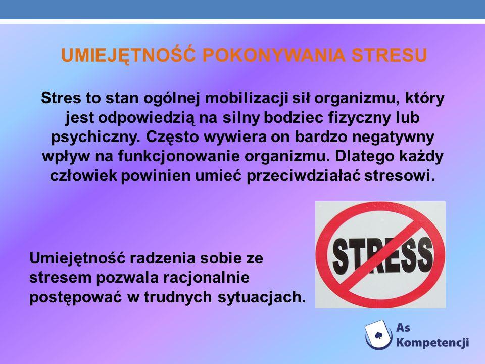 UMIEJĘTNOŚĆ POKONYWANIA STRESU