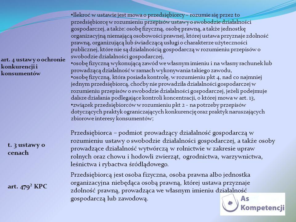 art. 4 ustawy o ochronie konkurencji i konsumentów