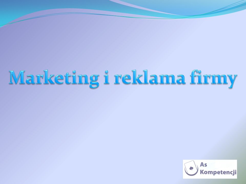 Marketing i reklama firmy