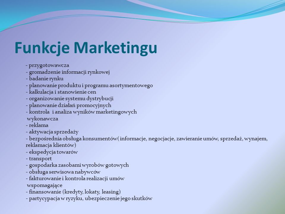 Funkcje Marketingu