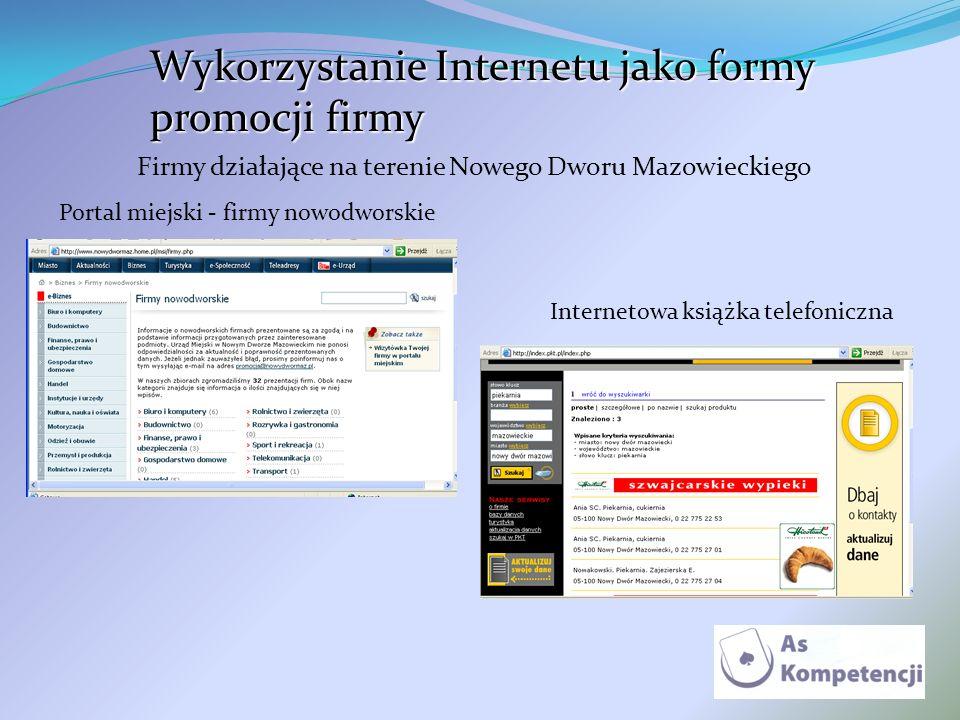 Wykorzystanie Internetu jako formy promocji firmy