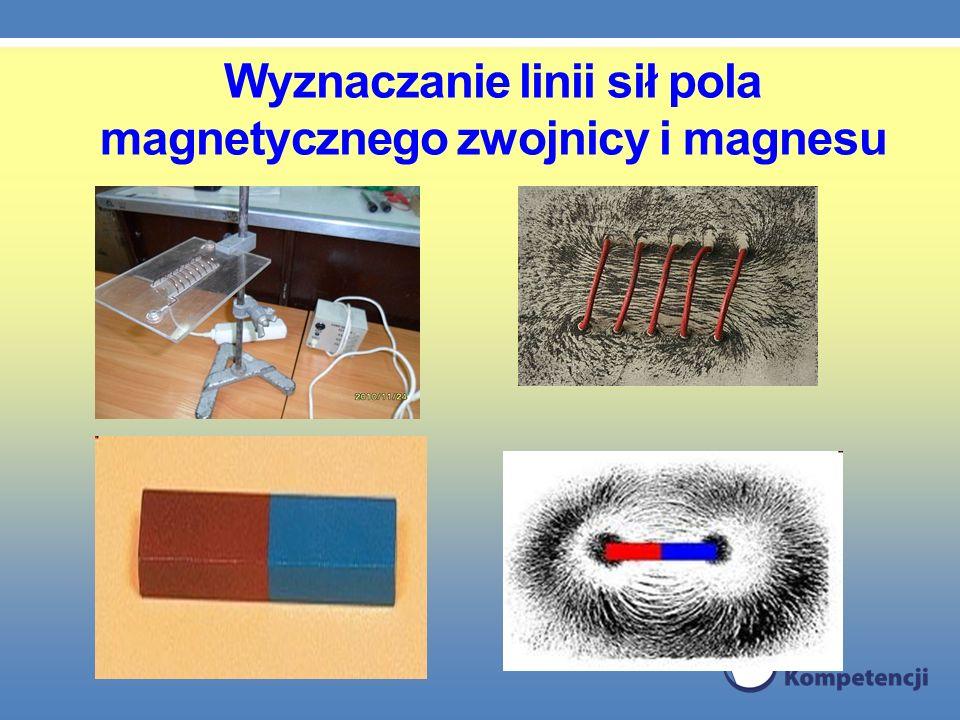 Wyznaczanie linii sił pola magnetycznego zwojnicy i magnesu