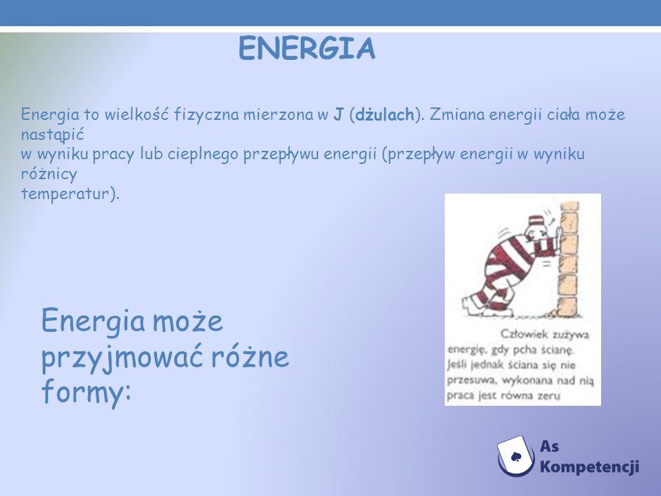 Energia może przyjmować różne formy: