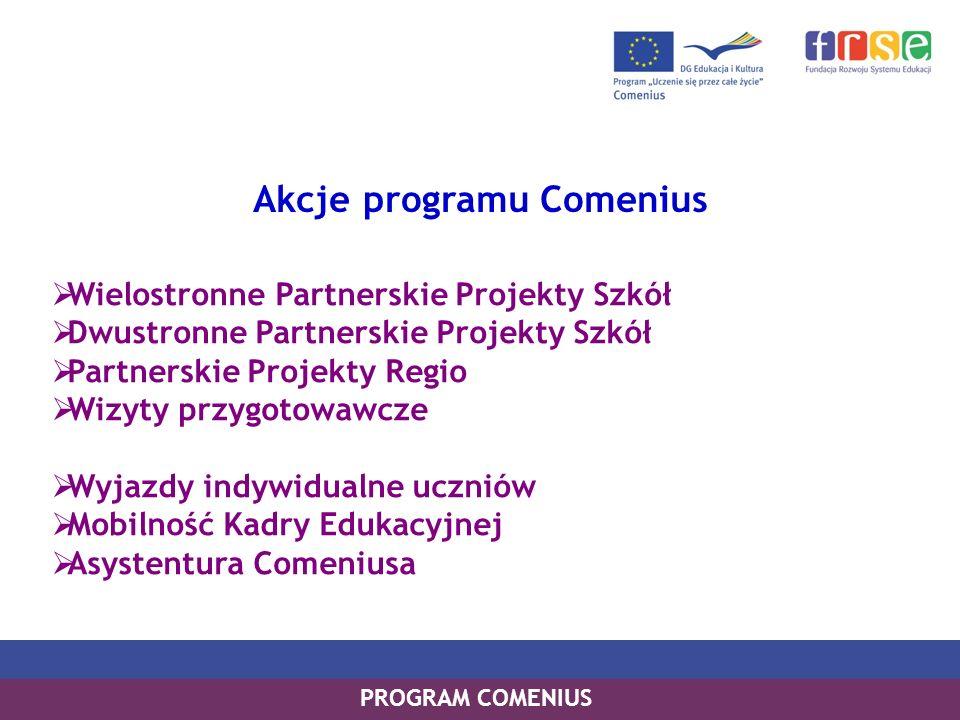 Akcje programu Comenius