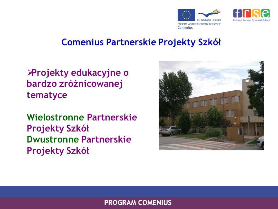 Comenius Partnerskie Projekty Szkół