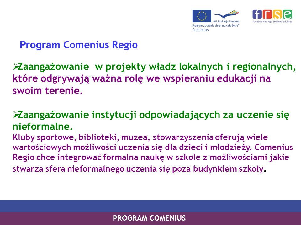 Program Comenius Regio