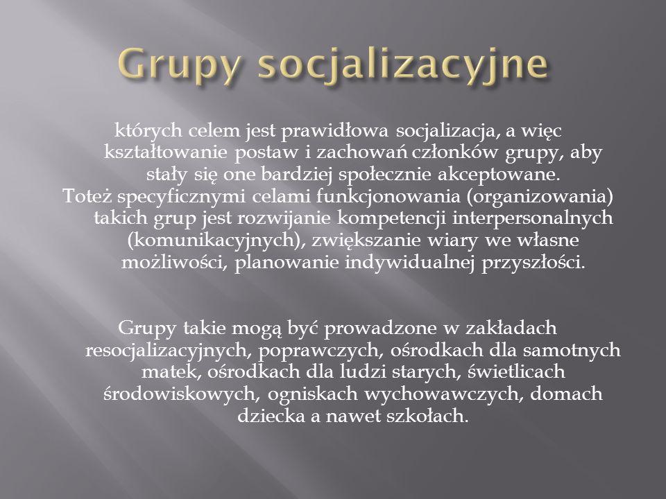Grupy socjalizacyjne